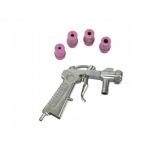 Smėliapūtės pistoletas su 4 antgaliais (G02006)
